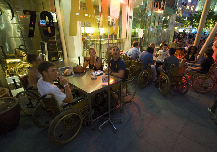 The slightly un-PC bar called Clinic in Clarke Quay