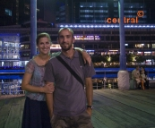 Sam and Lisa out for a late night in Clarke Quay