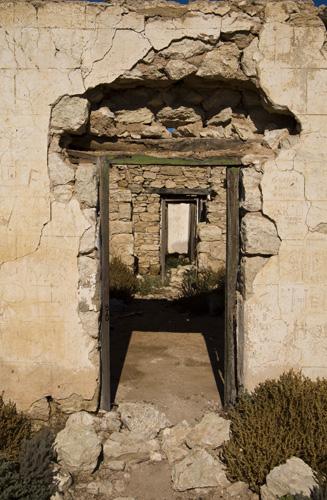 Ruins of Cadelga Homestead on Cordillo Downs Station
