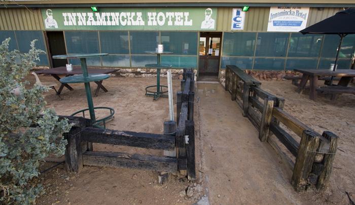 The Innamincka Hotel on Wednesday morning