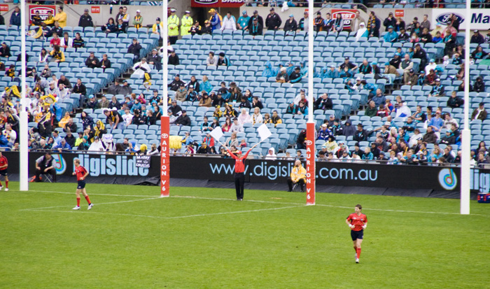 A goal at the Port Power and Richmond Tigers AFL game