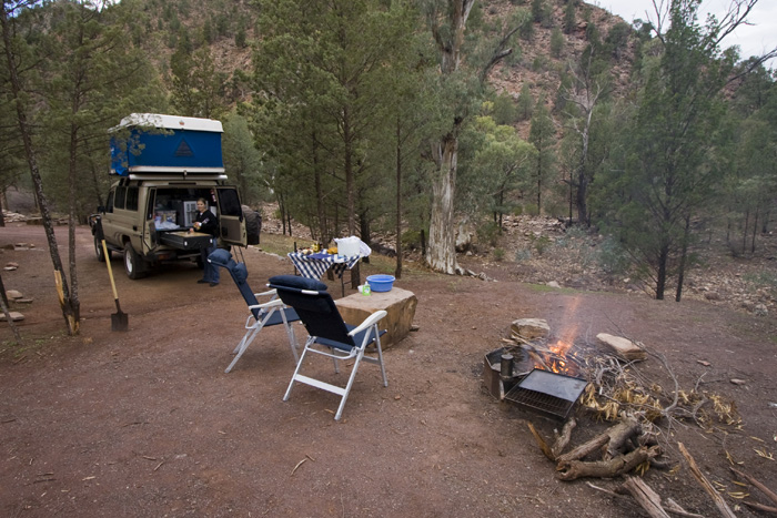 Our campsite at Bunyeroo Gorge