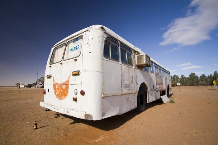 The William Creek bus