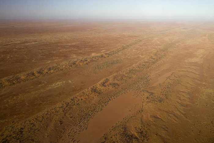 The Outback from the air in-between William Creek and Lake Eyre