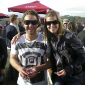 Todd and Lisa at the McLaren Vale Sea and Vines Festival