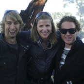 Tim, Lisa and Todd at the McLaren Vale Sea and Vines Festival