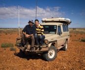 Sam, Lisa and The Tank in the Strzelecki Desert