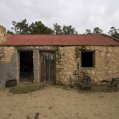 The blacksmith\'s shop behind Ian and Margaret Brown\'s home