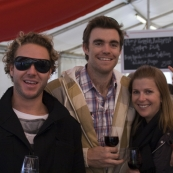 Todd, Mick and Lisa at the McLaren Vale Sea and Vines Festival