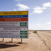 The Oodnadatta Track north out of William Creek
