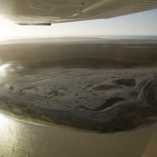 One of Lake Eyre\'s two large islands