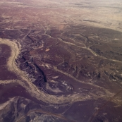 Patterns in The Outback sands between Lake Eyre and William Creek