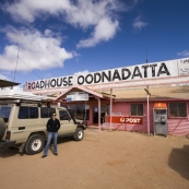Oodnadatta\'s famous Pink Roadhouse