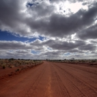 The Oodnadatta Track between Oodnadatta and Dalhousie Springs
