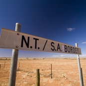 Crossing the border from South Australia to the Northern Territory