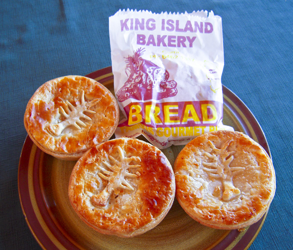 Crayfish pies from the King Island Bakery
