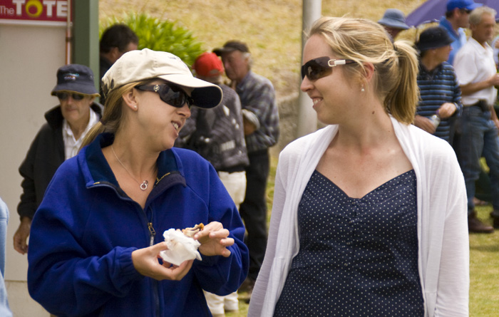 Lisa and Linda at the King Island Races