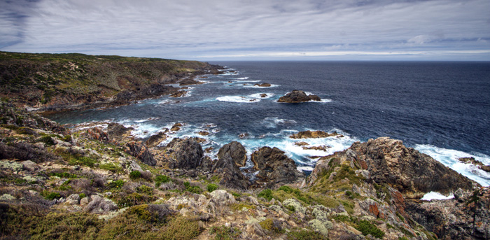 View along the southern coast of King Island from Seal Rocks