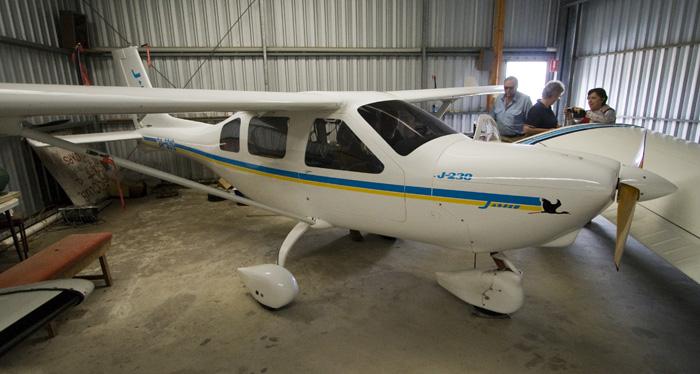 Grant\'s ultralight Jabiru plane