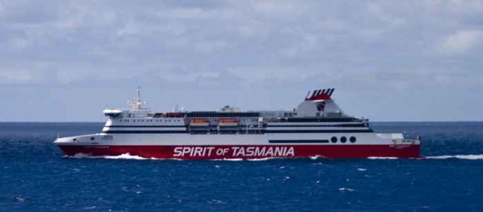 Our transport to Tasmania: the Spirit of Tasmania