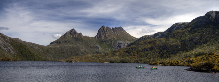 Kayakers on Dove Lake