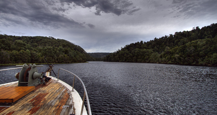 Cruising the Pieman River on Arcadia II