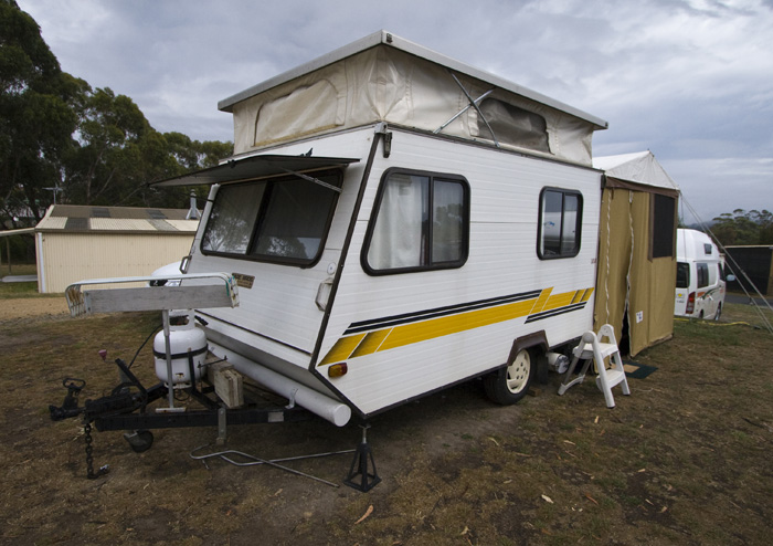 The tiniest caravan we've ever seen!