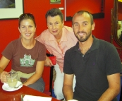 Lisa, Jenni and Sam at the Nautilus Coffee Shop