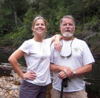 Lisa and Greg by the Frankland River