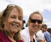 Sue and Linda at the King Island Races