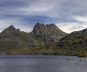 Kayakers on Dove Lake