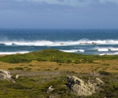 The powerful seas near Arthur River
