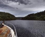 Cruising the Pieman River on Arcadia II
