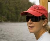 Lisa on Arcadia II on the Pieman River