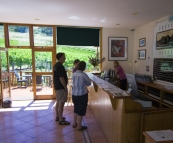 Greg, Lisa and Carol tasting at Freycinet Winery