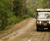 Cruising through the rainforests near Mount Maurice