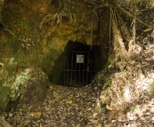 An abandoned mine shaft near Mount Victoria