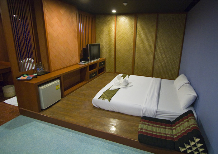 Our room at Dang Derm Hotel on Khaosan Road