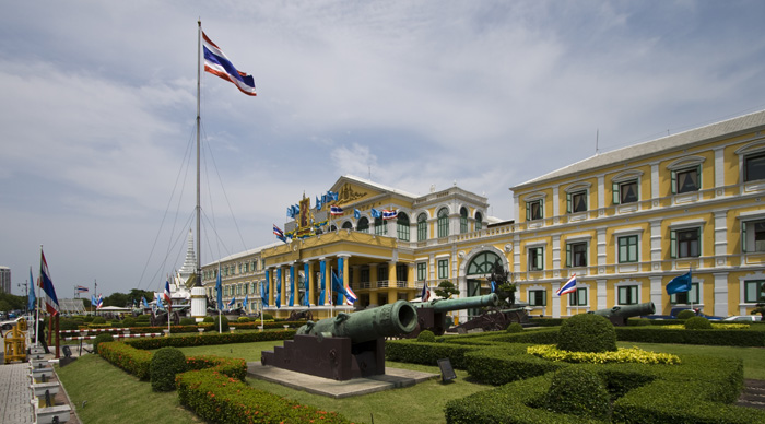Government buildings next to the Royal Palace