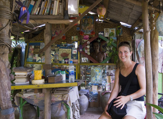 Lisa at the tea house at Two View lookout