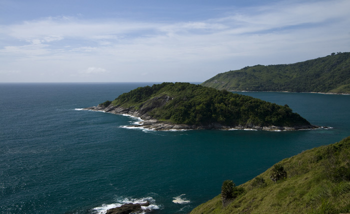 View from Laem Promthep (Cape Promthep) at the southern tip of Phuket