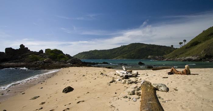 The fantastic secluded beach just below Laem Promthep (Cape Promthep) at the southern tip of Phuket