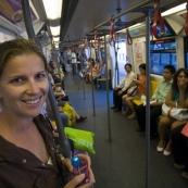 Lisa on the Skytrain