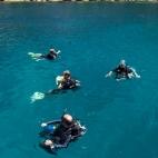 In the water at Hin Wong Bay