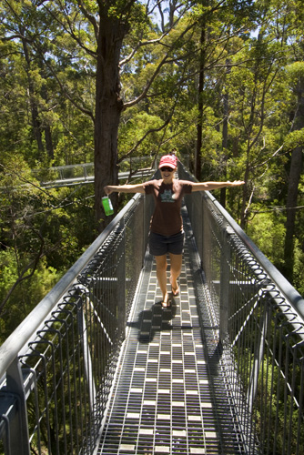 Lisa on the Valley of the Giants Treetop Walk