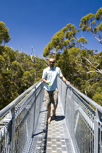 Sam on the Valley of the Giants Treetop Walk