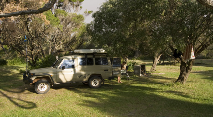 Our campsite at Peaceful Bay