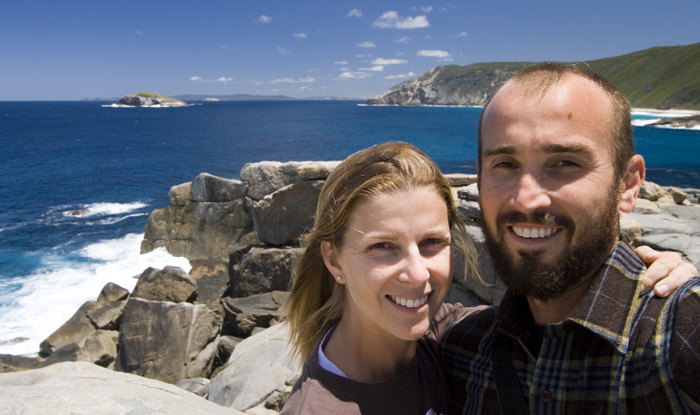 Sam and Lisa in Torndirrup National Park