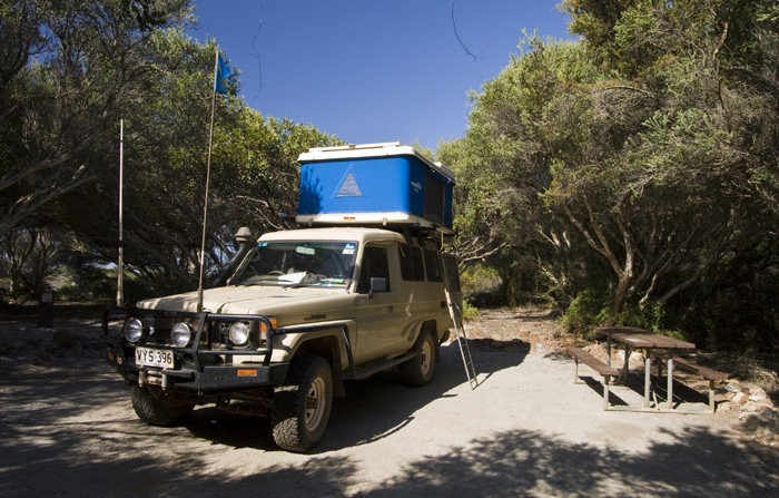 Our campsite at Saint Mary's Inlet in Fitzgerald River National Park