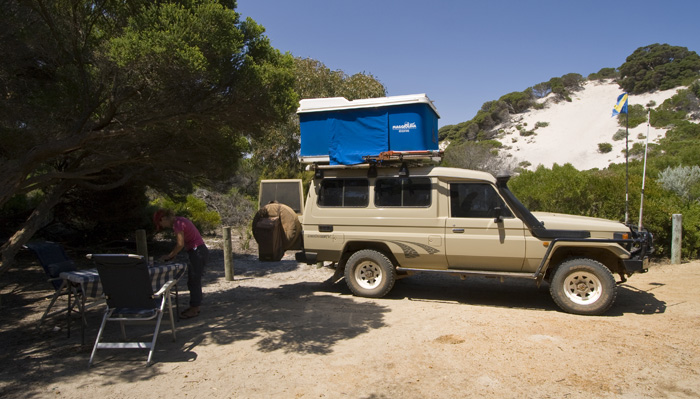 Our campsite at Munglinup Reef